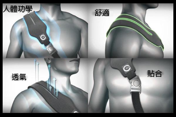 卡司丁 肩墊設計-透氣舒壓